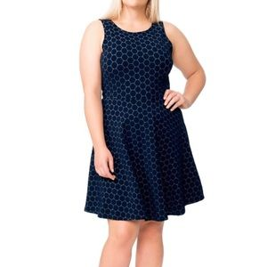 Leota Pop Over Luxury Jacquard Dress
